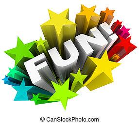 parola, intrattenimento, starburst, stelle, divertimento, divertimento
