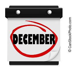 parola, inverno, parete, dicembre, mese, calendario, natale, cambiamento