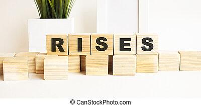 parola, legno, lettere, bianco, rises., cubi, tavola., fondo.