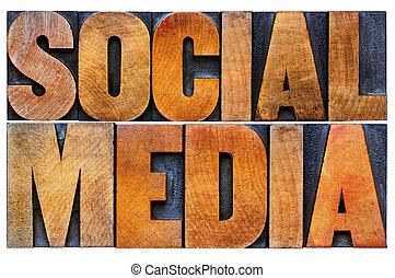 parola, media, astratto, legno, sociale, tipo