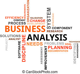 parola, nuvola, -, affari, analisi