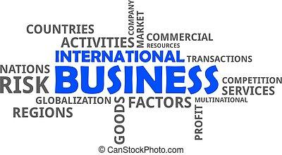 parola, -, nuvola, affari, internazionale