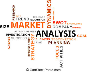 parola, nuvola, -, analisi mercato