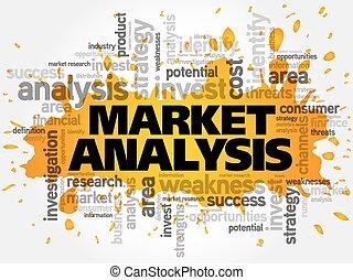 parola, nuvola, analisi, mercato