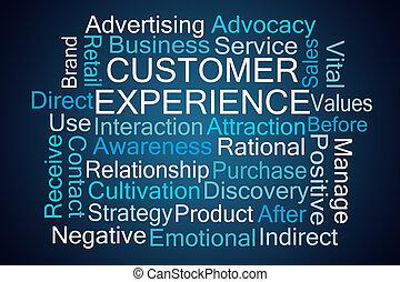 parola, nuvola, cliente, esperienza