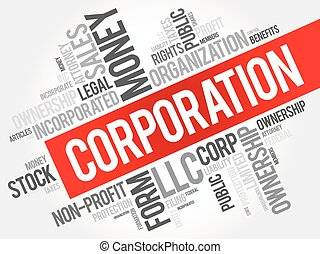 parola, nuvola, collage, corporazione