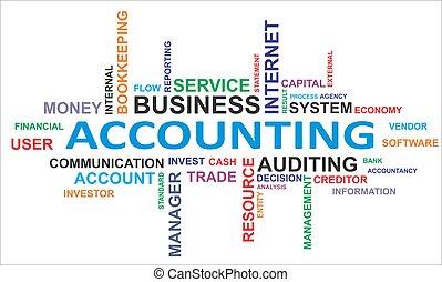 parola, -, nuvola, contabilità