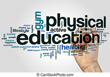 parola, nuvola, educazione fisica