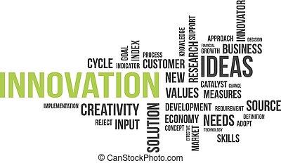 parola, -, nuvola, innovazione