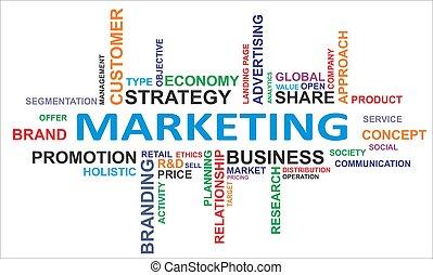 parola, -, nuvola, marketing