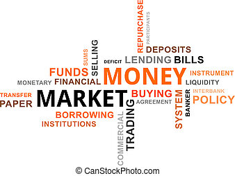parola, -, nuvola, mercato, soldi