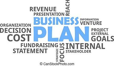 parola, -, nuvola, pianificazione aziendali