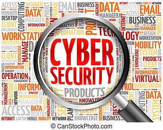 parola, nuvola, sicurezza, cyber