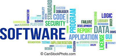 parola, -, nuvola, software
