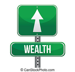 parola, ricchezza, segno strada