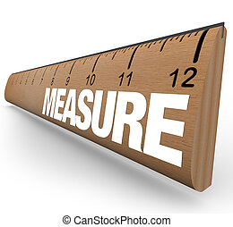 parola, righello, misure, -, bastone, misura