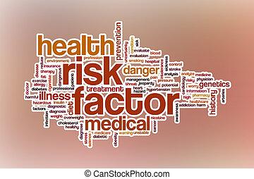 parola, rischio, astratto, fondo, factor, nuvola