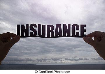 parola, silhouette, assicurazione
