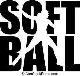 parola, silhouette, softball, disinserimento