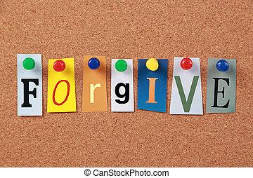 parola sola, perdonare