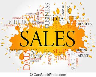 parola, vendite, nuvola