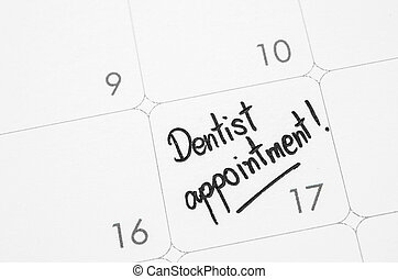 parole, calendar., dentista, scritto