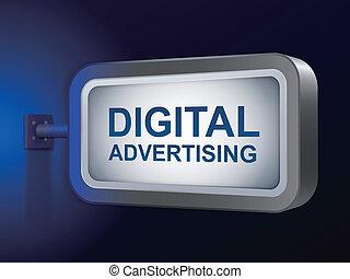 parole, tabellone, digitale, pubblicità