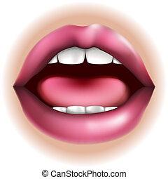 parte corpo, bocca, illustrazione
