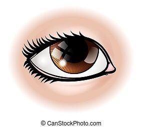 parte corpo, occhio