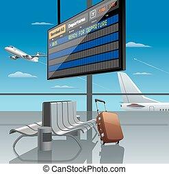 partenza, aeroporto