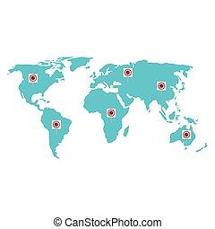 particelle, terra, covid19, mappa