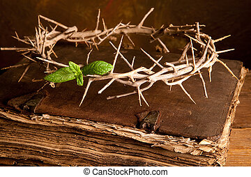 pasqua, bibbia, corona