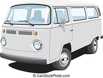 passeggero, furgone, carico