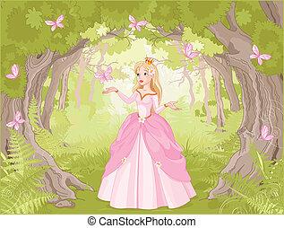 passeggiare, fantastico, principessa
