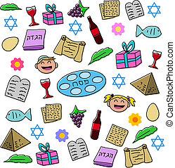 passover, vacanza, simboli, pacco