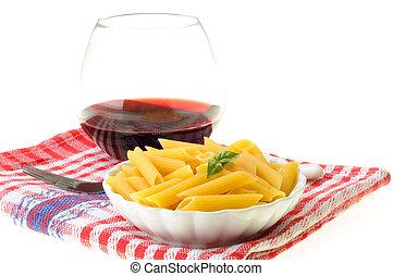 pasta, basilico