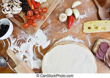 pasta, delizioso, pizza