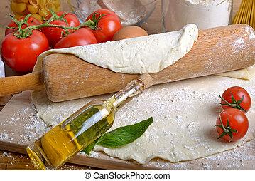 pasta pizza, ingredienti