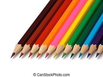 pastelli, organizzato, linea, colorito
