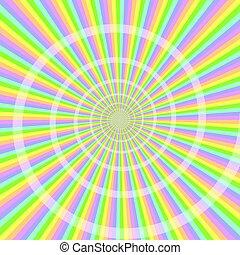 pastello, astratto, spirale, fondo, luce