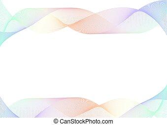 pastello, strato, arcobaleno, astratto, curva, fondo, linea