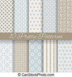 pastello, (tiling, seamless, modelli, vettore, carino, swatch)