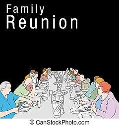 pasto, riunione famiglia