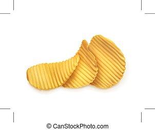 patatine fritte, illustrazione, patata
