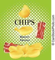 patatine fritte, pancetta affumicata, patata