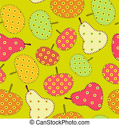 patchwork, ornamento, seamless, frutte