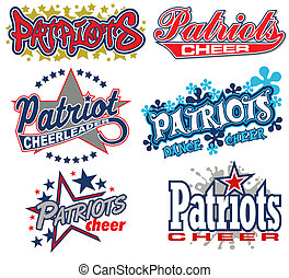 patrioti, rallegrare, disegno, collezione