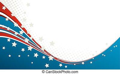 patriottico, americano, vettore, bandiera, fondo