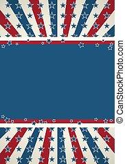 patriottico, fondo, bandiera, americano