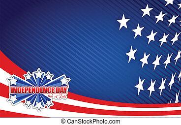 patriottico, luglio, giorno, quarto, indipendenza
